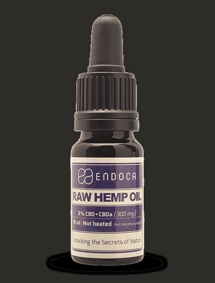 Endoca RAW Hemp Oil Drops 300mg