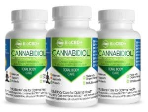 BioCBD Total Body Care CBD Capsules (3 Bottles of 30 Capsules – 900mg)