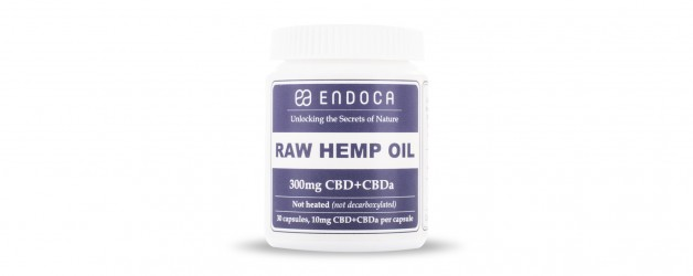 Endoca Raw CBD Capsules (300mg) CBD+CBDa (3%)