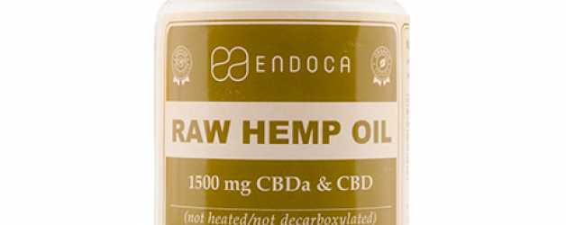 Endoca Raw CBD Capsules (1500mg) CBD+CBDa (15%)